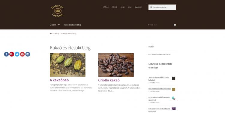 Darkest Desire étcsokoládé webáruház