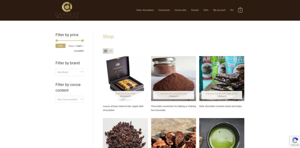darkchocolates.eu webshop woocommerce
